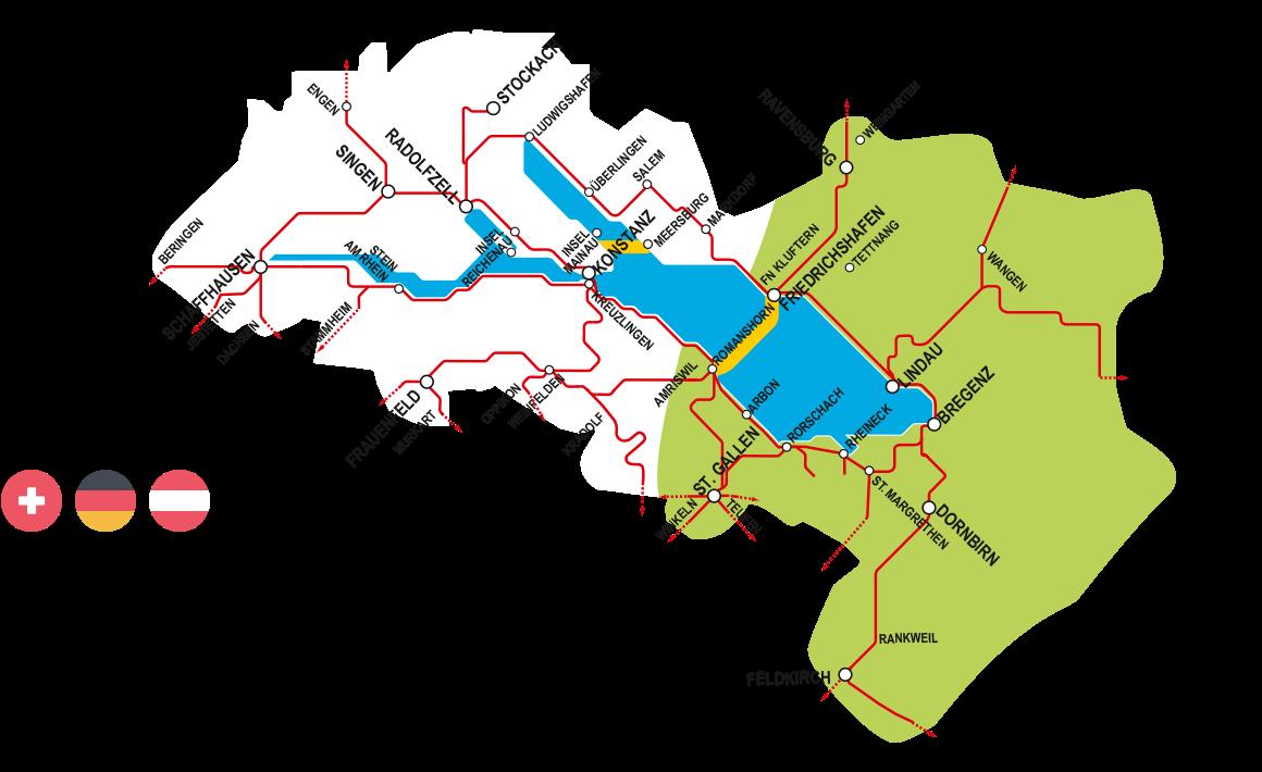 Bodensee Karte Schweiz.Zonen Bodensee Ticket
