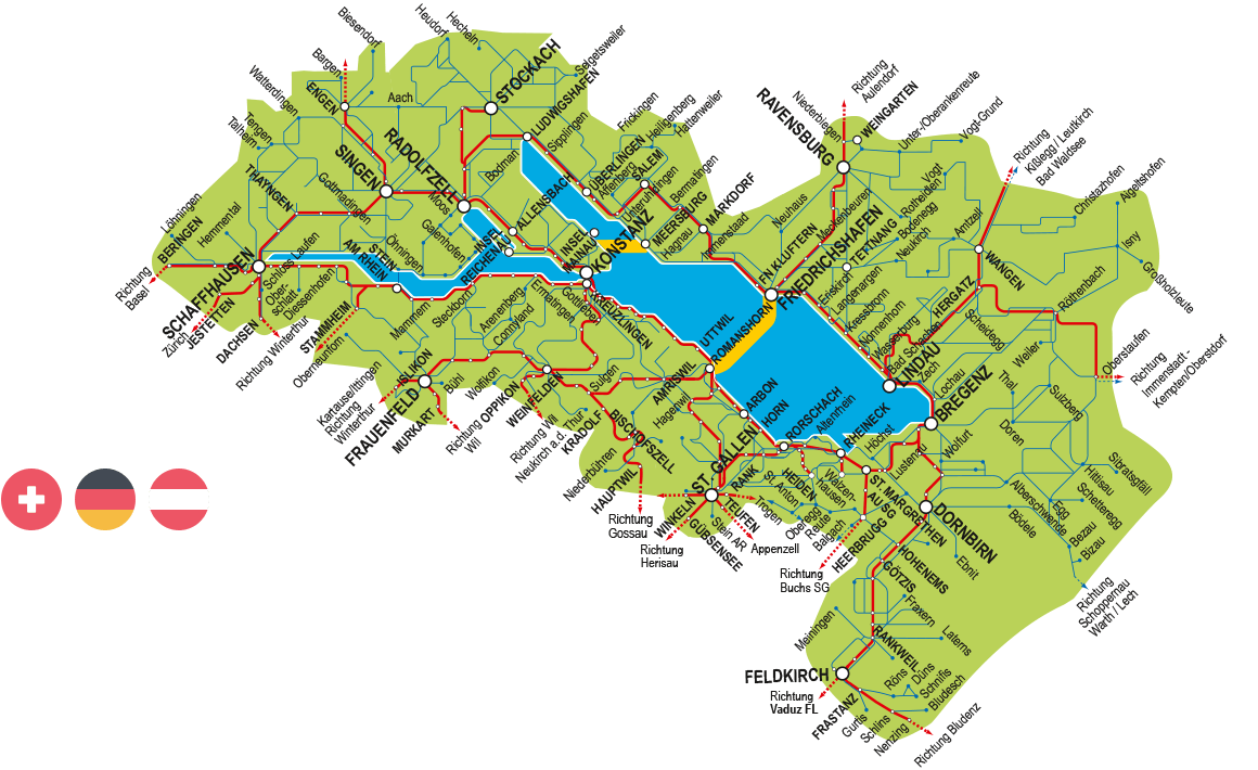 Bodensee Karte Schweiz.3 Tages Pass Bodensee Ticket